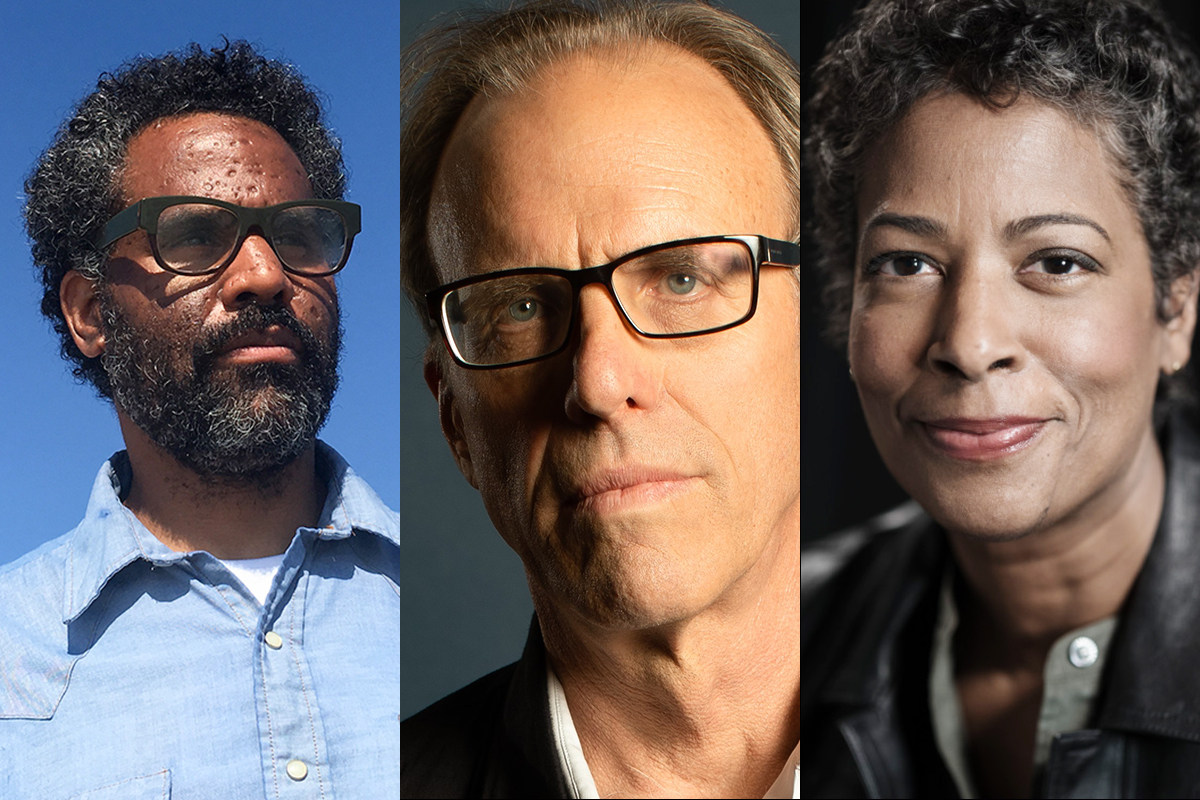 The second event in this year's online Ebert Symposium will feature three prominent documentary filmmakers: from left, Sacha Jenkins, Kirby Dick and Dawn Porter.