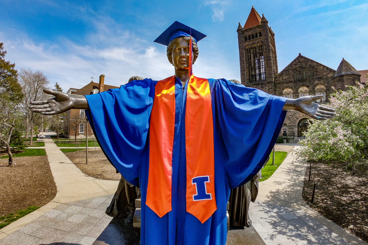 The University of Illinois, Urbana-Champaign held a virtual celebration May 16 to congratulate spring graduates.