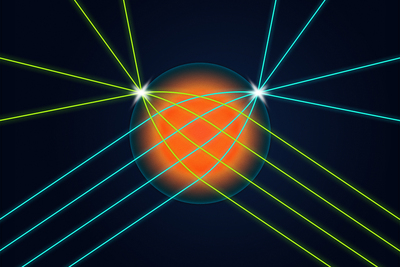 Illinois researchers developed a spherical lens that allows light coming into the lens from any direction to be focused into a very small spot on the surface of the lens exactly opposite the input direction. This is the first time such a lens has been made for visible light.