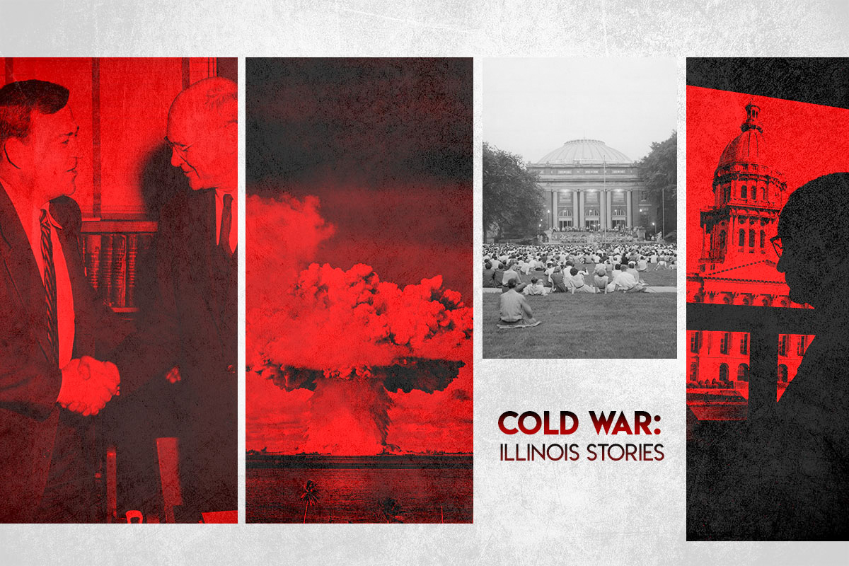 """Poster for the new documentary """"Cold War: Illinois Stories."""""""