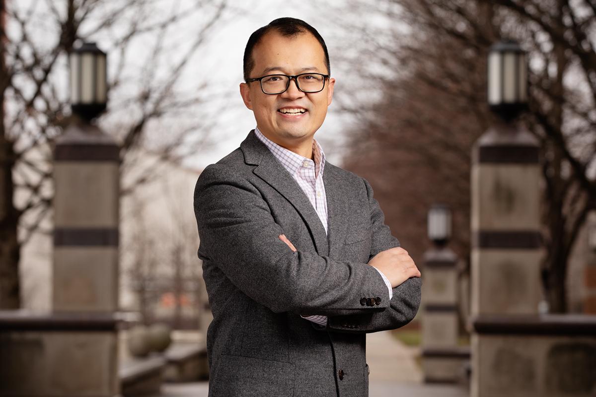 Portrait of postdoctoral researcher Pengcheng Sun