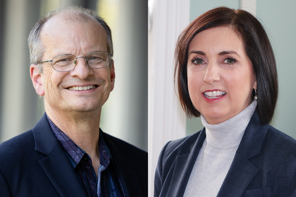Photos of Dan Morrow, a professor of educational psychology at the University of Illinois, and Karen Dunn Lopez, the director of the Center for Nursing Classification and Clinical Effectiveness at the University of Iowa