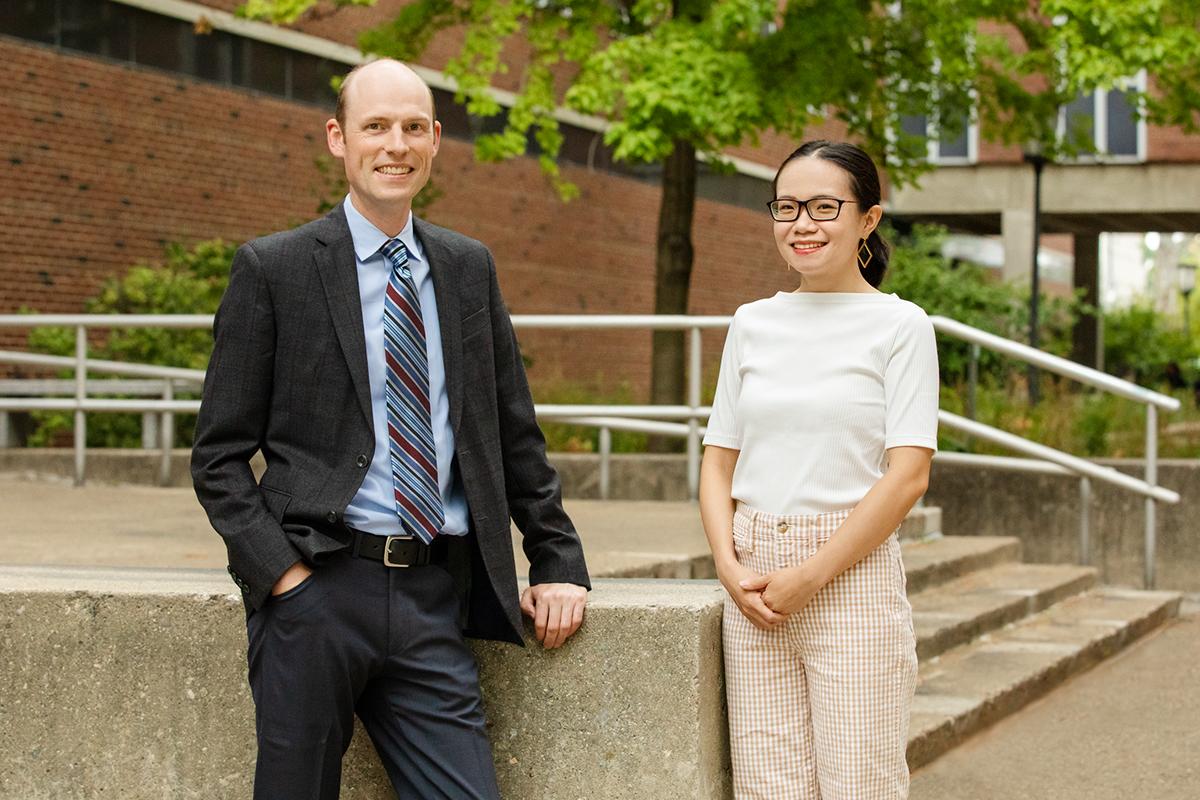 Professor Erik Nelson and graduate student Liqian Ma.