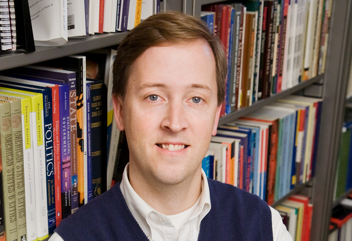 Thomas Rudolph is a professor of political science who teaches a course on state government.