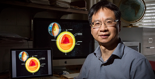 Illinois geology professor Xiaodong Song led a research team that used seismic waves to look at the Earth's inner core. They found that the inner core has surprisingly complex structure and behaviors.