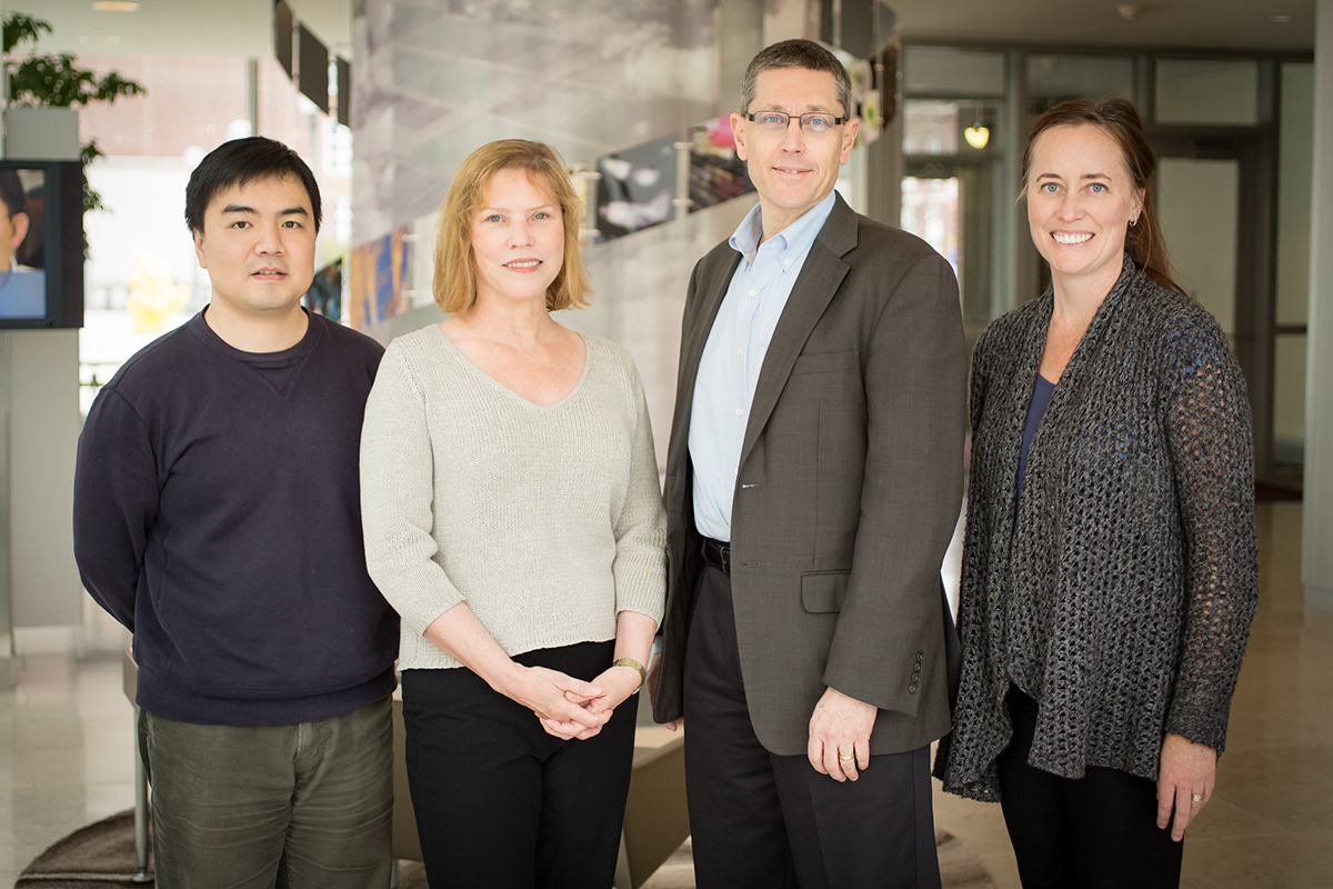 From left, bioengineering professor Jian Ma, cell and developmental biology professor Lisa Stubbs, entomology professor and Institute for Genomic Biology director Gene Robinson, animal biology professor Alison Bell and their colleagues found that distantly related organisms share key genetic mechanisms that help them respond to threats.