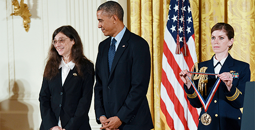Entomology professor May Berenbaum received a National Medal of Science award from President Obama at a White House ceremony Nov. 20.