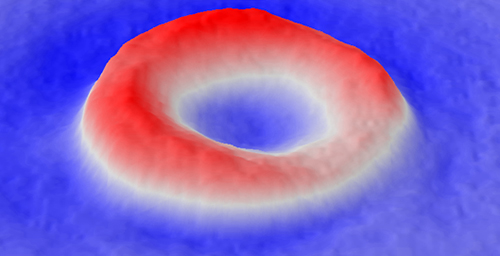 Topography of a red blood cell as measured by the SLIM optical technique. Though the cell keeps its shape as it ages, the membrane becomes less flexible.