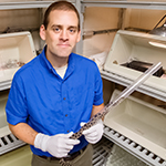 University of Illinois comparative biosciences professor Matt Allender developed a faster, more accurate and less invasive test for a fungus that is killing snakes in the Midwest and eastern U.S.