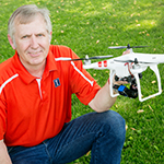 Extension educator and crop science researcher Dennis Bowman is exploring aerial photography and drones.
