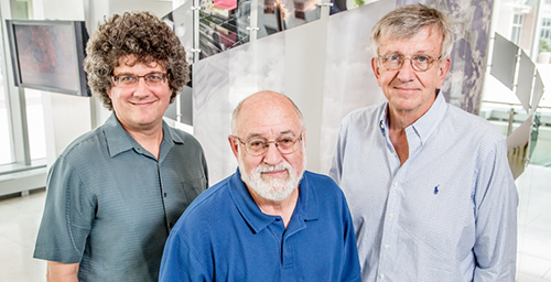 Chemistry professor Jonathan Sweedler, left, microbiology professor John Cronan, biochemistry professor John Gerlt and their colleagues developed a streamlined approach to discovering enzyme function.