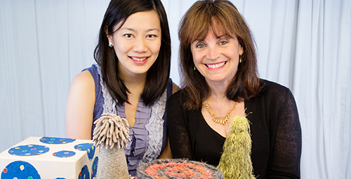 In a new study, University of Illinois professor of psychology Rene Baillargeon, right, and graduate student Peipei Setoh showed that infants expect objects they identify as animals to have insides.