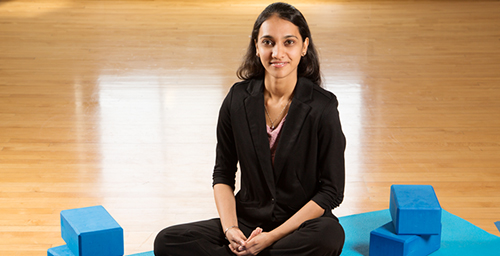 Former University of Illinois graduate student Neha Gothe and colleagues found that 20 minutes of yoga significantly improved participants' reaction time and accuracy in tests of cognitive function. Gothe is now a professor of kinesiology at Wayne State University.