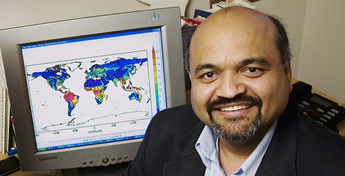 Atmospheric sciences professor Atul Jain led a group that studied the global effects of nitrogen on carbon dioxide emissions from land use change, such as deforestation to expand cropland.