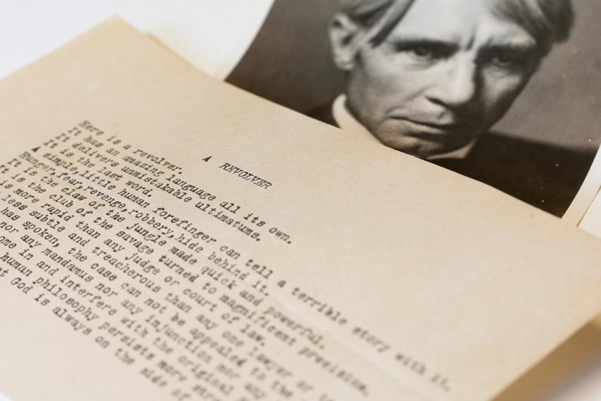 Previously unknown Sandburg poem focuses on power of the gun