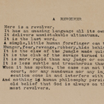 The poem, typed on a manual typewriter on onionskin paper, was discovered by a library volunteer.