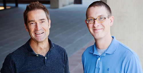A new study by University of Illinois psychology professor Brent Roberts, left, and postdoctoral researcher Patrick Hill suggests that personality and social well-being influence each other as one progresses through adulthood.