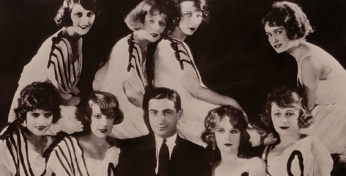 "Irving Berlin appeared onstage with the Eight Little Notes in a show called ""Music Box Review."""