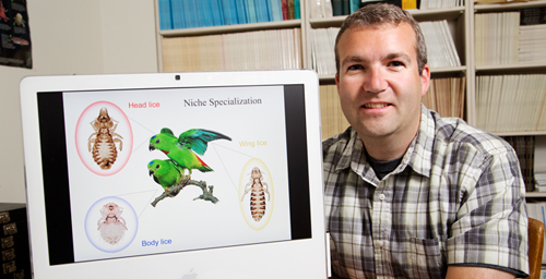 Illinois Natural History Survey ornithologist Kevin Johnson and his colleagues determined the evolutionary relationships of avian feather lice.