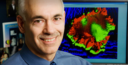 Joseph Lyding, a professor of electrical and computer engineering at the University of Illinois, led a group that developed a new microscope probe-sharpening technique.