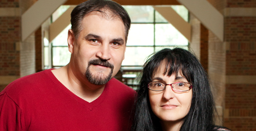 University of Illinois researchers Sanda, right, and Florin Dolcos studied how personality, gender, and emotion-regulation strategies appear to influence the recall of emotional personal memories.