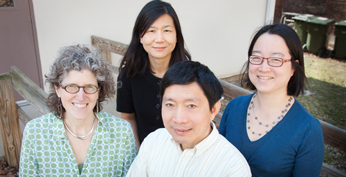 The American University Meets the Pacific Century Project, a social science research laboratory guided by U. of I. professors, from left, Nancy Abelmann, Soo Ah Kwon, Tim F. Liao and Adrienne Lo.