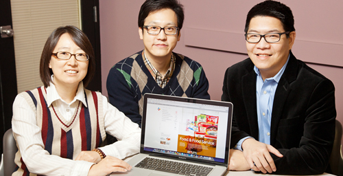 Education professor Wenhao David Huang, right, collaborated with graduate students Sun Joo Yoo, left, and Seung-hyun Caleb Han on researching e-training initiatives. They found that companies need to focus on making programs enjoyable and mentally stimulating for employees whenever possible, and offering extrinsic incentives such as pay increases and promotions when employees need extra motivation.