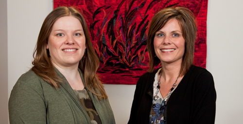 Doctoral students Jill R. Bowers, right, and Elissa Thomann Mitchell were co-authors on the study that evaluated online educational programs mandated by many family courts when parents divorce.