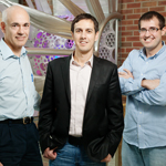 Professors Joseph Lyding, left; and Eric Pop, center; and graduate student Josh Wood identified copper crystal structures that work best for growing high-quality graphene.