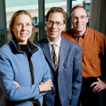 Illinois researchers Nancy Sottos, Scott White and Jeff Moore have developed vascularized structural composites, creating materials that are lightweight and strong with potential for self-healing, self-cooling, metamaterials and more.