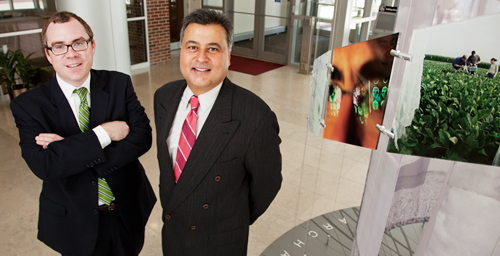 In a new study, University of Illinois law professor Jay P. Kesan, right, and Timothy A. Slating, a regulatory associate with the University of Illinois Energy Biosciences Institute, argue that regulatory innovations are needed to keep pace with technological innovations in the biofuels industry.