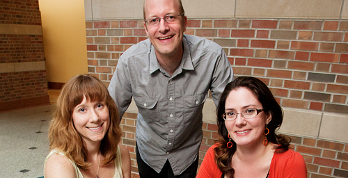 University of Illinois instructors, from left, Kate Clancy, Alex Wild and Joanne Manaster were selected to join Scientific American's new blog network.
