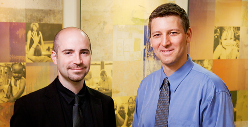 "Although TV shows such as ""Intervention"" purport to reveal the unvarnished truth about addiction and recovery, the shows convey misinformation about treatment availability, practices and success rates, according to a new study by Jason R. Kosovski, left, a scholar of cultural issues in media, and Douglas C. Smith, a professor in the School of Social Work who researches addiction and treatment."