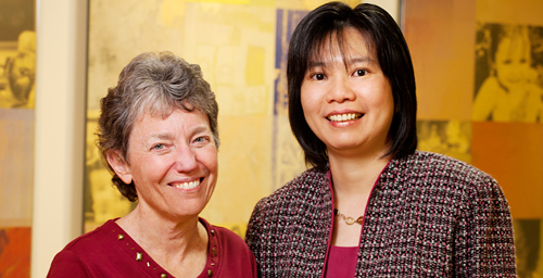 Social work professors Mary Keegan Eamon, left, and Chi-Fang Wu have conducted two research studies on low-income single mothers that emphasize the need for jobs that pay living wages and provide universal health insurance.