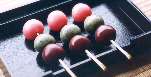 The art of making Japanese sweets, such as these hanami dango, will be featured during the spring open house of Japan House.