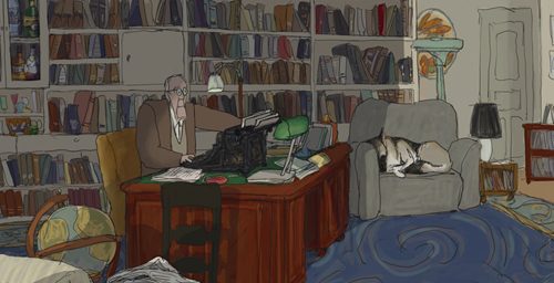 """My Dog Tulip"" the animated story of a ""curmudgeon and a canine,"" based on a memoir of the same title by British author J.R. Ackerley, will be shown at 3:30 p.m. April 28."