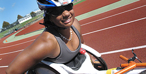 Anjali Forber-Pratt, a doctoral student in education at Illinois, won the gold medal in the 200-meter race of the 2011 International Paralympic Committee World Athletics Championships.