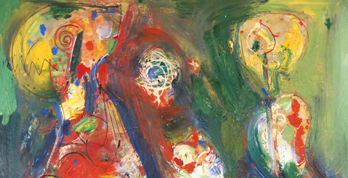 "Hans Hofmann ""Apparition"" (detail) 1949 Oil on reinforced plywood"