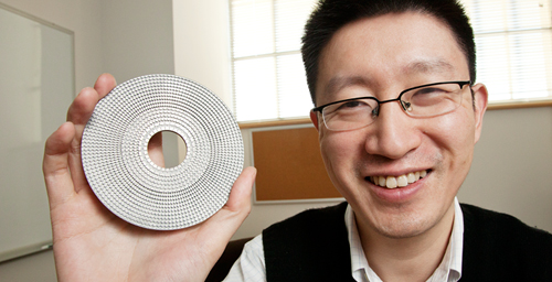 Illinois professor Nick Fang developed a two-dimensional acoustic cloak that makes objects in the center invisible to sonar and other ultrasound waves.