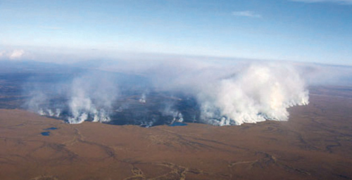 The 2007 Anaktuvuk River Fire burned more than 1,000 square kilometers of tundra on Alaska's North Slope. It was the largest fire in the region since 1950, when record-keeping began.