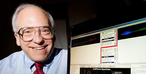 University of Illinois chemistry professor Alexander Scheeline developed a cell-phone spectrometer for high school chemistry classes. He wrote free software that analyzes JPEG images taken by students' cellular phones.