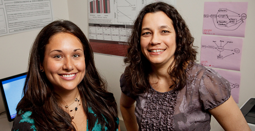 Psychology professor Edelyn Verona, right, and graduate student Naomi Sadeh have identified a specific gene associated with psychopathic tendencies.