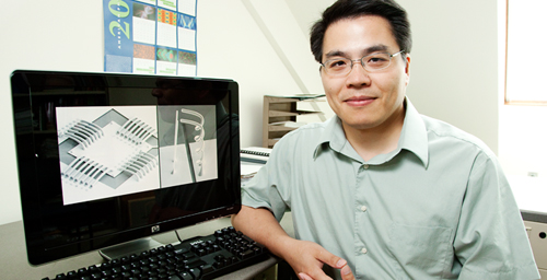 Min-Feng Yu, a professor of mechanical science and engineering, and his graduate student have developed a novel approach for manufacturing metal interconnects that could shrink integrated circuits and expand microelectronics.