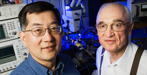 A major current law has been rewritten thanks to the three-port transistor laser, developed by Milton Feng and Nick Holonyak Jr. at the University of Illinois.