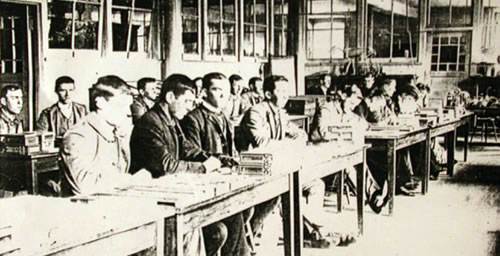 An entomology laboratory in 1889.