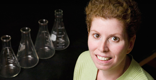 Veterinary biosciences professor Jodi Flaws and her colleagues found that mouse follicle cells that were exposed to bisphenol A (BPA), a chemical found in many plastics, produced lower levels of steroid hormones than other cells.