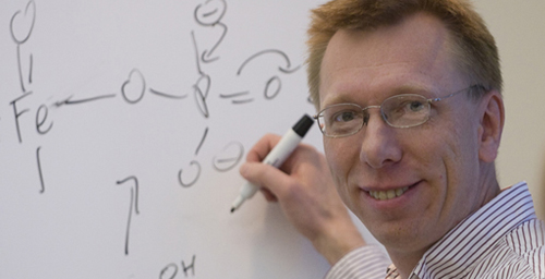 A study by chemistry professor Wilfred van der Donk and his colleagues describes the unusual mechanism by which a newly described enzyme breaks a non-activated carbon-carbon bond in a single step.