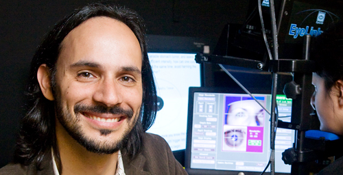 University of Illinois psychology professor Alejandro Lleras led research that demonstrated that physical movements, such as eye movements or arm swinging, can aid in problem solving.