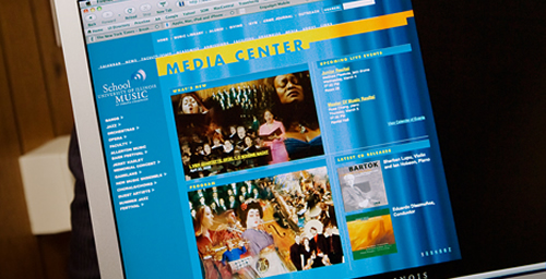 Karl Kramer, director of the School of Music, says performances by faculty members, students and guest artists of the school are accessible online through a new Media Center.