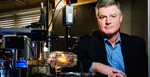Gary Eden, a professor of electrical and computer engineering at Illinois, and colleagues have created a plasma transistor that could be used to make lighter, less expensive and higher resolution flat-panel displays. The researchers have applied for a patent.